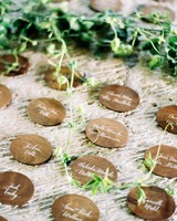 hannah chris wedding north garden va wood escort cards