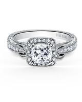 Kirk Kara Pirouette Cushion-Cut Diamond Engagement Ring
