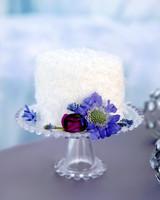 Frozen inspired white wedding cakes