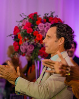 Tony Goldwyn Clapping at Cornelius Smith Jr. Wedding