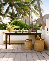 ariel trevor wedding tulum mexico coconuts for guests