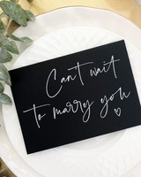 """I Cant Wait to Marry You"" Greeting Card"