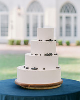 christina matt wedding charleston sc cake blue modern