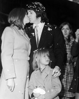 Linda Eastman and Paul McCartney Wedding Photo