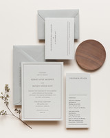 wedding invitation negative space letterpress serif type bold lines