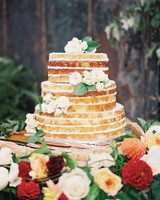 Naked Floral Wedding Cake