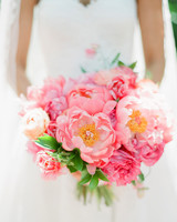 monochromatic bouquet pink flowers
