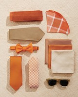 Orange and White Men's Accessories