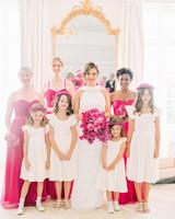 stephanie nikolaus wedding bridesmaids and flower girls