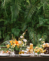 ariel trevor wedding tulum mexico table setting