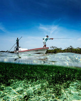 fly fishing boat water