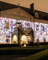 haylie bradley wedding louisiana floral projection exterior