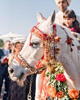 jenna alok wedding wine country california baraat horse