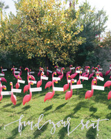 Lawn Flamingo Escort Cards