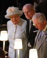 queen elizabeth and prince philip at princess eugenie royal wedding