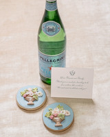 pellegrino and cookies thank you token