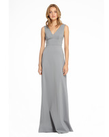 grey silver bridesmaid dresses monique lhuillier clementine dress