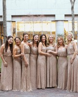 New Years Eve Wedding bridesmaids