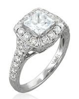 Yael Designs vintage-inspired princess-cut diamond engagement ring