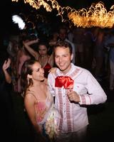 ariel trevor wedding tulum mexico reception dancing