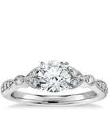 Blue Nile vintage-inspired diamond engagement ring