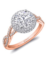 Coast Diamond Round Diamonds Fishtail Rose gold Setting