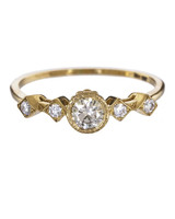 Jennie Kwon Yellow Gold Champagne Diamond Engagement ring