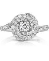 Roberto Coin vintage-inspired Cento Diamond Abbracci engagement ring