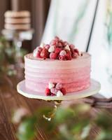 raspberry ombré cake