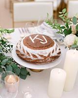 kelsey joc wedding santa barbara california monogrammed cake