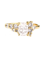 Bario Neal Cushion-Cut Cluster Diamond Engagement Ring