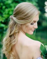 Simple Twist half-up half-down hairstyle