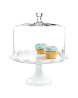 hollowware anniversary gifts ruffle cake stand martha stewart collection