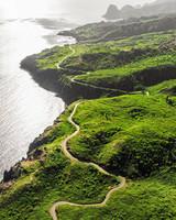 hawaii experience overhead view of lush green coast line