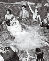 elizabeth sohale wedding dominican republic wedding party pool