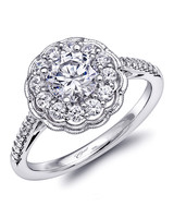 Coast Diamond vintage-inspired fishtail/milgrain engagement ring