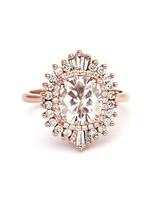 Heidi Gibson Starburst-Effect Cushion-Cut Diamond Engagement Ring