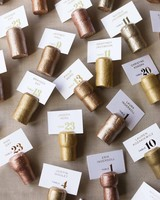 Gold Champagne Cork Escort Cards