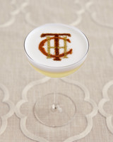 Stenciled Monogram Cocktail