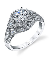 Sylvie Collection vintage-inspired engagement ring