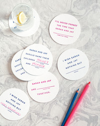 Mad Libs Drink Coasters
