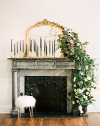 Trending Now: Mantel and Fireplace Ceremony Backdrops