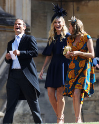Prince Harry's Ex-Girlfriend Chelsy Davy Arrives at the Royal Wedding
