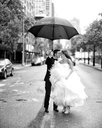How to Get Amazing Wedding Photos—Even if It Rains