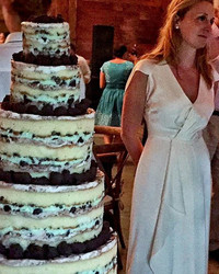 Milk Bar Owner Christina Tosi's Foodie Wedding Featured a Giant Naked Cake, Because Duh