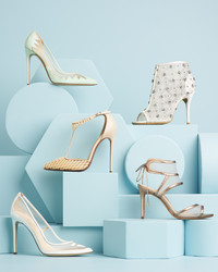 Wedding Shoes That Are a Sheer Delight