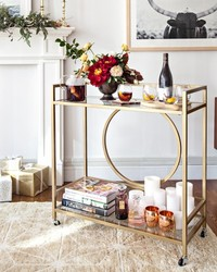 How to Deck Out Your Bar Cart for the Holidays