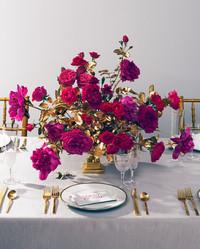 Your New Favorite Wedding Color Palette: Gold & Magenta