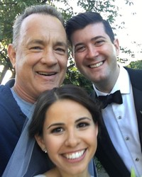 Tom Hanks Crashes Couple's Wedding Photos for the Ultimate Photobomb
