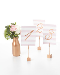 Painted Guest Table Numbers and Stands